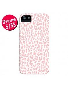 Coque Leopard Rose Corail pour iPhone 5 et 5S - Mary Nesrala