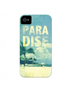 Coque Paradise Summer Ete Plage pour iPhone 4 et 4S - Mary Nesrala