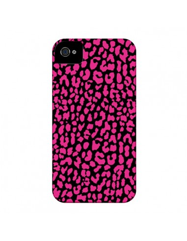 Coque Leopard Rose Pink pour iPhone 4 et 4S - Mary Nesrala