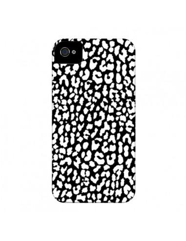 Coque Leopard Noir et Blanc pour iPhone 4 et 4S - Mary Nesrala