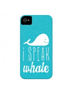 Coque I Speak Whale Baleine pour iPhone 4 et 4S - Mary Nesrala