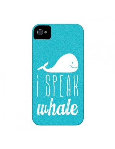 Coque I Speak Whale Baleine pour iPhone 4 et 4S - Mary Nesrala