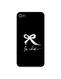 Coque Be Chic Noeud Papillon Blanc pour iPhone 4 et 4S - Léa Clément