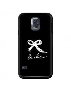 Coque Be Chic Noeud Papillon Blanc pour Samsung Galaxy S5 - Léa Clément