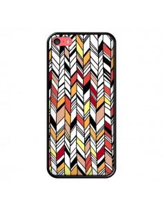 Coque Graphic Azteque Rouge Orange pour iPhone 5C - Léa Clément