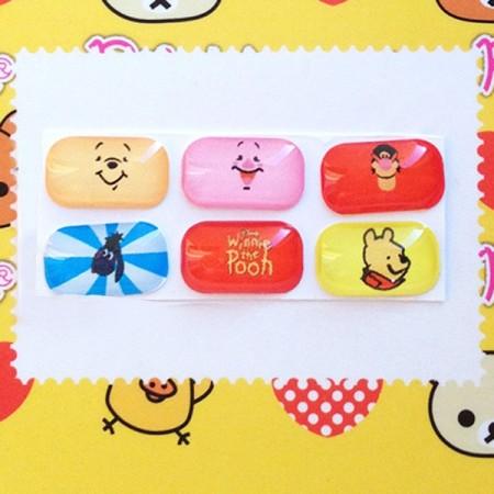 Sticker Winnie l'Ourson pour Bouton Samsung