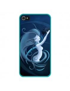 Coque Aquarius Girl La Petite Sirene pour iPhone 4 et 4S - LouJah
