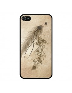 Coque Bohemian Feather Plume Attrape Reves pour iPhone 4 et 4S - LouJah