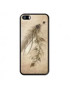 Coque Bohemian Feather Plume Attrape Reves pour iPhone 5 et 5S - LouJah