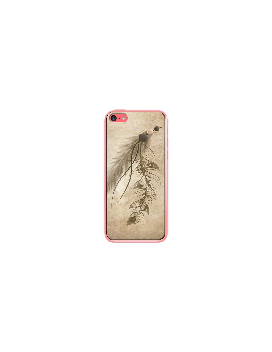 coque bohemian feather plume attrape reves pour iphone 5c loujah. Black Bedroom Furniture Sets. Home Design Ideas