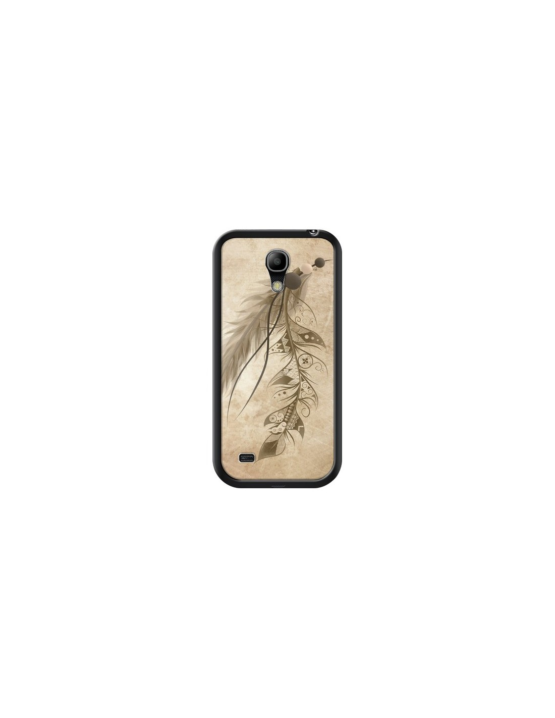 Coque Bohemian Feather Plume Attrape Reves pour Samsung Galaxy S4 Mini - LouJah