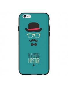 Coque Chapeau, Lunettes, Moustache, Noeud Papillon To Be a Good Hipster pour iPhone 6 - Eleaxart