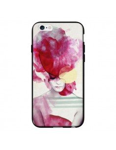 Coque Bright Pink Portrait Femme pour iPhone 6 - Jenny Liz Rome