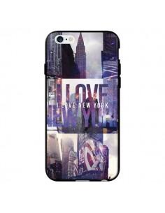 Coque I love New Yorck City violet pour iPhone 6 - Javier Martinez