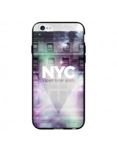 Coque I Love New York City Violet Vert pour iPhone 6 - Javier Martinez