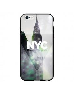 Coque I Love New York City Gris Violet Vert pour iPhone 6 - Javier Martinez