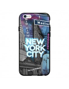 Coque New York City Buildings Bleu pour iPhone 6 - Javier Martinez