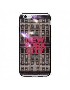 Coque New York City Buildings Rouge pour iPhone 6 - Javier Martinez