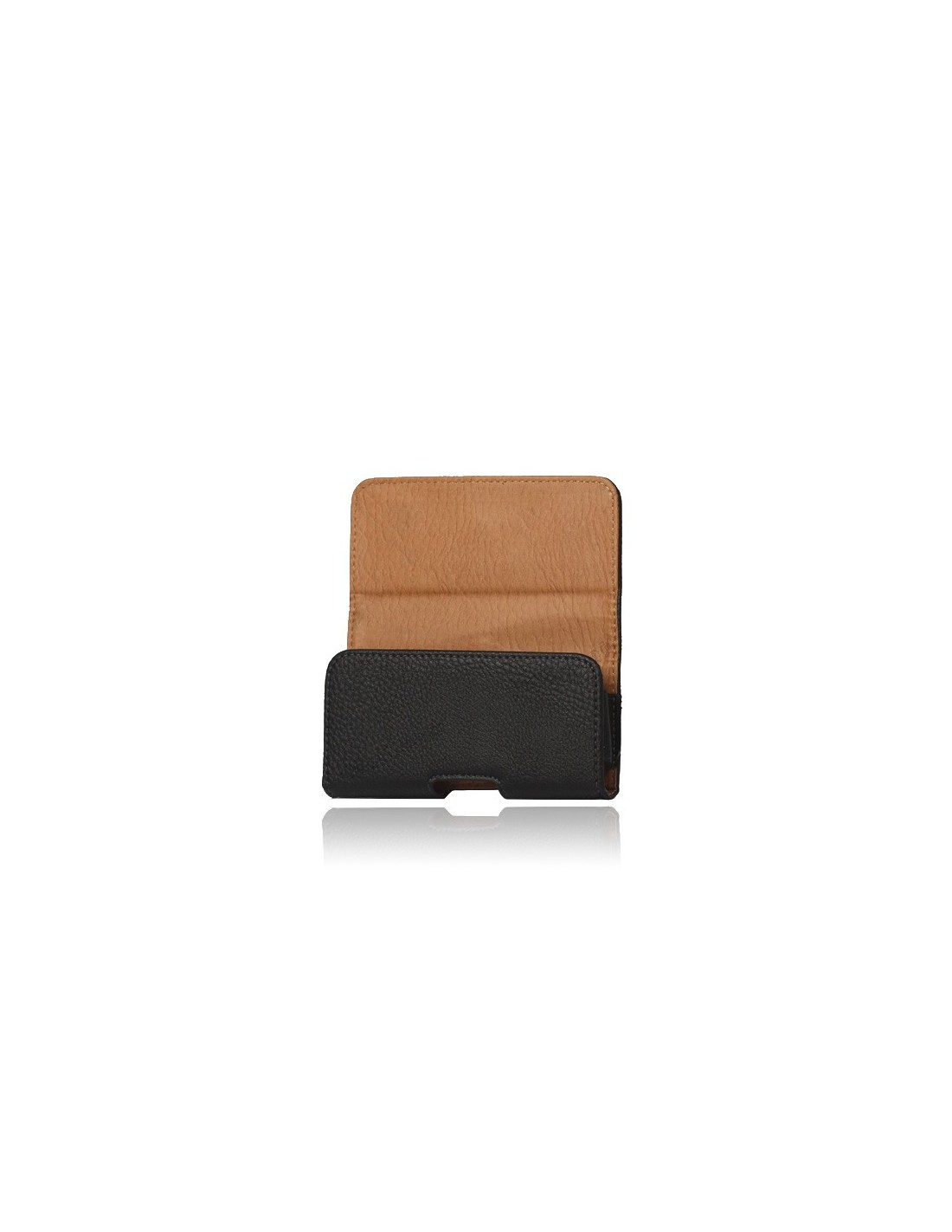 etui ceinture en imitation cuir noir pour iphone 5 5s et se coques. Black Bedroom Furniture Sets. Home Design Ideas