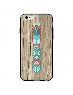 Coque Totem Tribal Azteque Bois Wood pour iPhone 6 - Jonathan Perez