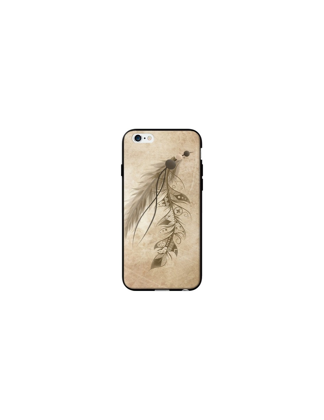 coque bohemian feather plume attrape reves pour iphone 6 et 6s loujah. Black Bedroom Furniture Sets. Home Design Ideas