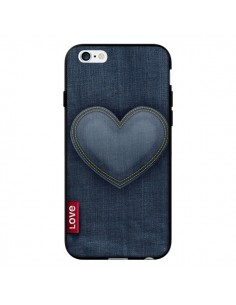 Coque Love Coeur en Jean pour iPhone 6 - Lassana