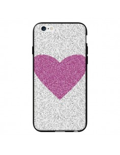 Coque Coeur Rose Argent Love pour iPhone 6 - Mary Nesrala