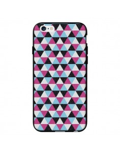 Coque Azteque Triangles Rose Bleu Gris pour iPhone 6 - Mary Nesrala
