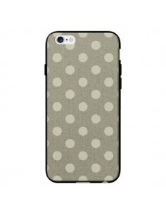 Coque Pois Polka Camel pour iPhone 6 - Mary Nesrala