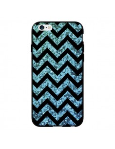 Coque Chevron Aqua Sparkle Triangle Azteque pour iPhone 6 - Mary Nesrala