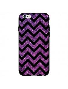 Coque Chevron Purple Sparkle Triangle Azteque pour iPhone 6 - Mary Nesrala