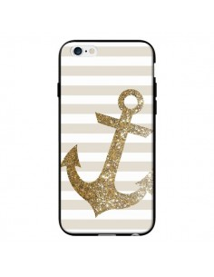 Coque Ancre Or Navire pour iPhone 6 - Monica Martinez