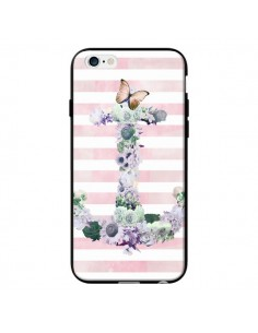 Coque Ancre Rose Fleurs Navire pour iPhone 6 - Monica Martinez