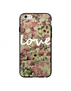 Coque Love Blanc Flower pour iPhone 6 - Monica Martinez