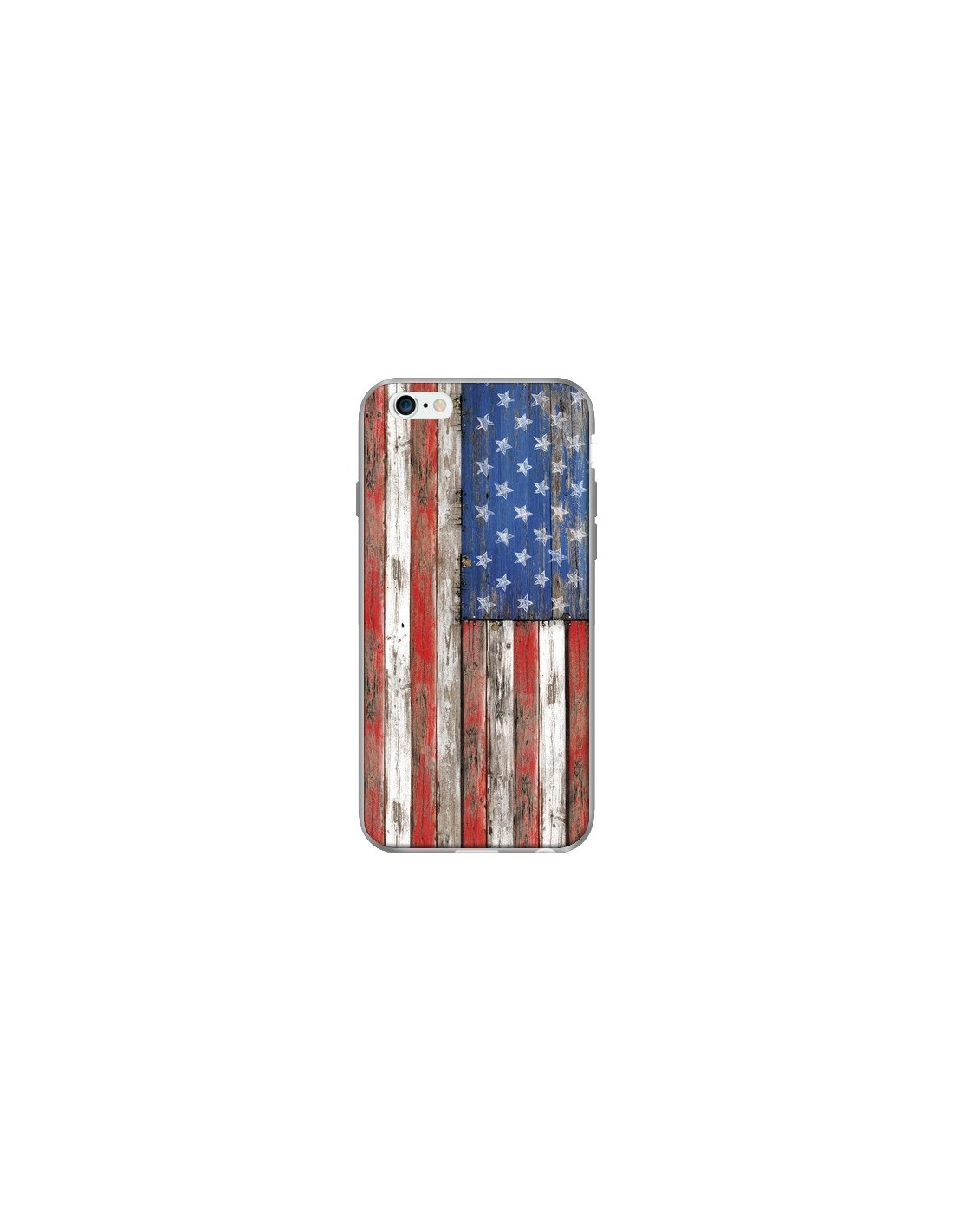 coque drapeau usa vintage bois wood pour iphone 6 et 6s. Black Bedroom Furniture Sets. Home Design Ideas