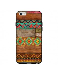 Coque Indian Wood Bois Azteque pour iPhone 6 et 6S - Maximilian San