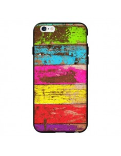 Coque Bois Coloré Vintage pour iPhone 6 - Maximilian San
