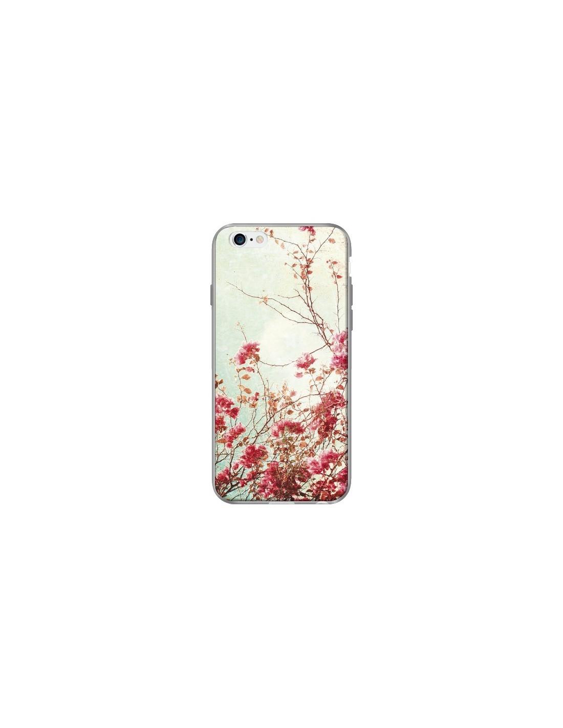 iphone 6 coque rose fleur