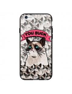 Coque Chat Grumpy Cat - You Suck pour iPhone 6 - Sara Eshak