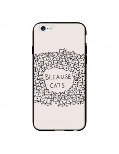 Coque Because Cats chat pour iPhone 6 - Santiago Taberna