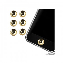 Sticker Bouton Home Diamant Doré pour iPhone, iPad, iTouch, iPod