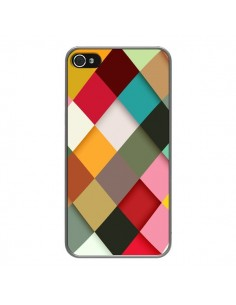 Coque Colorful Mosaique pour iPhone 4 et 4S - Danny Ivan