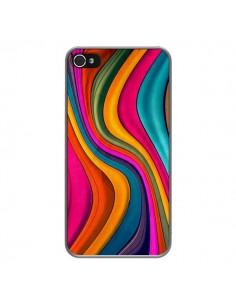 Coque Love Color Vagues pour iPhone 4 et 4S - Danny Ivan