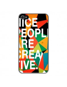 Coque Nice people are creative art pour iPhone 4 et 4S - Danny Ivan