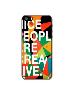 Coque Nice people are creative art pour iPhone 5 et 5S - Danny Ivan