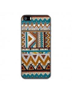 Coque Azteque Vert Marron pour iPhone 5 et 5S - Kris Tate