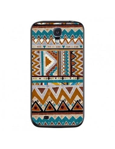 Coque Azteque Vert Marron pour Samsung Galaxy S4 - Kris Tate