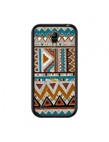 Coque Azteque Vert Marron pour Samsung Galaxy S4 Mini - Kris Tate