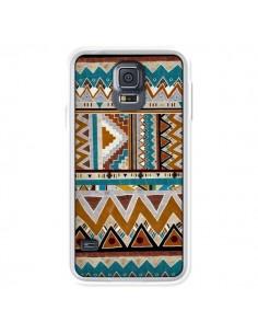 Coque Azteque Vert Marron pour Samsung Galaxy S5 - Kris Tate