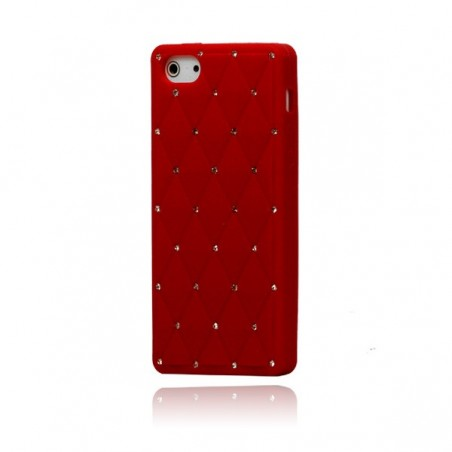 Coque Matelassée Strass pour iPhone 5